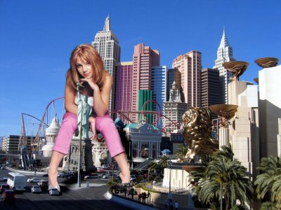 big art of Britney Spears(Las Vegas)