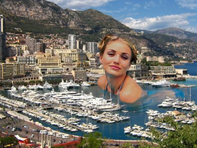 big art of Cameron Diaz(Monaco)