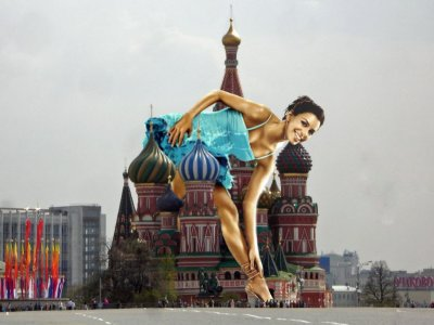 big art of Eva Longoria(Moscow)