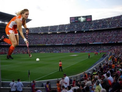 big art of Fatima Moreira de Melo(Nou Camp Barcelona)