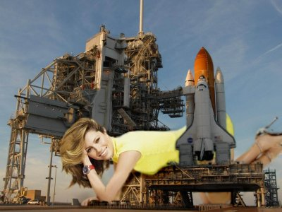 big art of Jessica Biel(Space Shuttle)