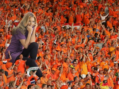 big art of Sylvie Meis(Dutch Soccer Fans)